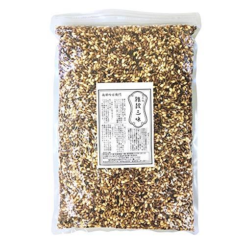 南部吟右衛門 雑穀三昧 大粒ラベル 1kg もち麦や古代米 全て国産