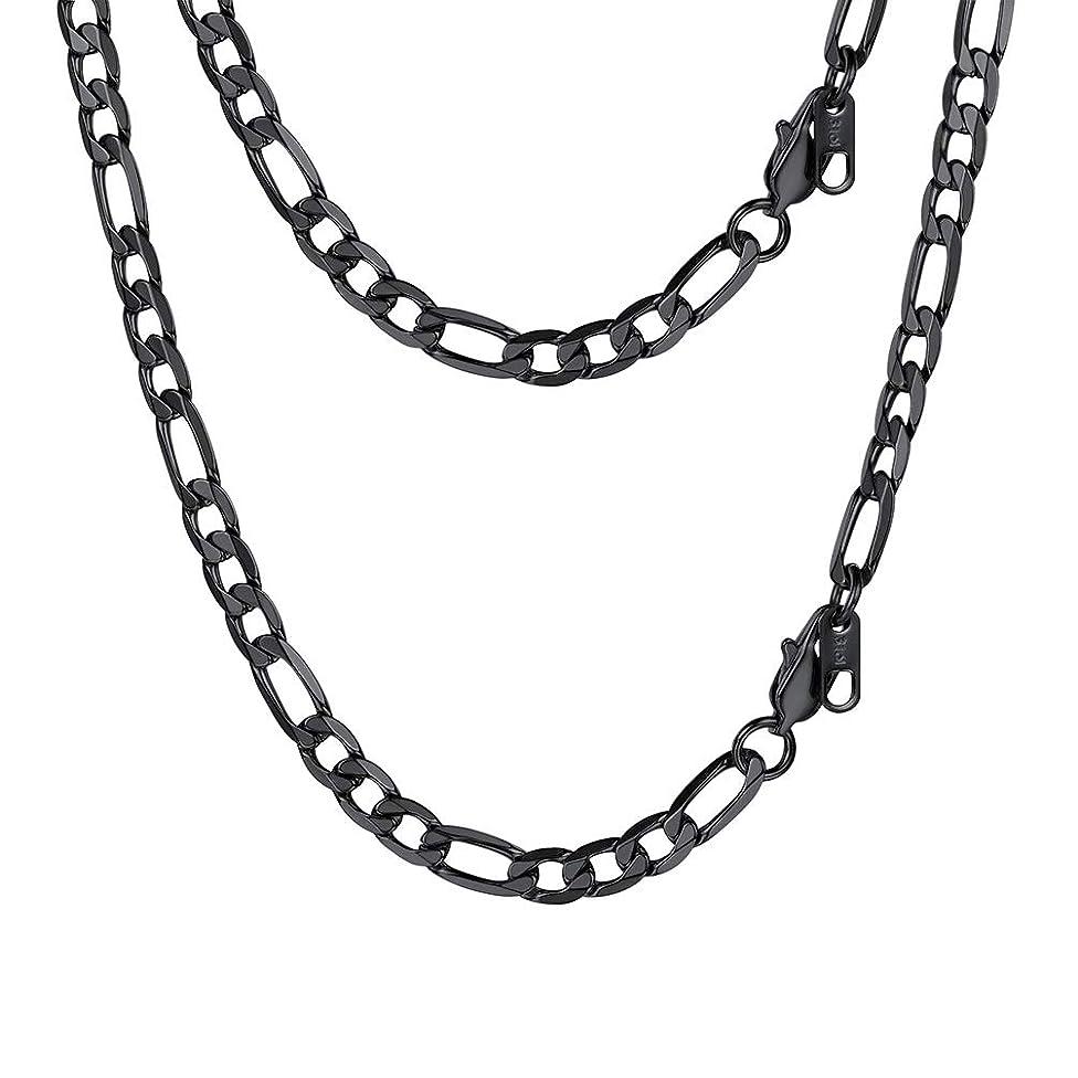 PROSTEEL Stainless Steel/925 Sterling Silver Figaro Chain Necklace, Men/Women Jewelry, 2.9mm-13mm, 18''-30''