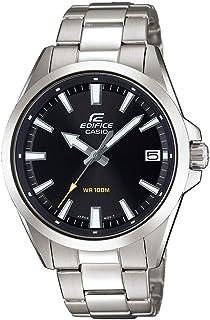 Casio EDIFICE Orologio, Robusta Cassa, 10 BAR, Nero, Uomo con Cinturino in Acciaio Inox EFV-100D-1AVUEF