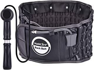 HailiCare Physio Decompression Back Belt Back Brace Back Pain Lower Lumbar Support, one Size for 29inches to 49 inches Waists (Black)