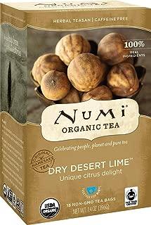 Numi Organic Tea Dry Desert Lime, 18 Count Box of Tea Bags (Pack of 6) Herbal Teasan