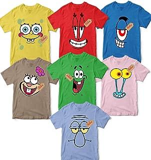 Family Sponge-Bob Friends Costume Halloween Group Matching Outfit Cartoon Character Unisex T-shirt - Premium T-shirt - Hoodie - Sweater - Long Sleeve - Tank Top