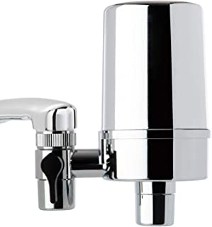 iSpring DF2-CHR Faucet Water Filter for Contaminants Removal in Kitchen, Bathroom, or RV Sink 500 Gallons Long Life, Chrome