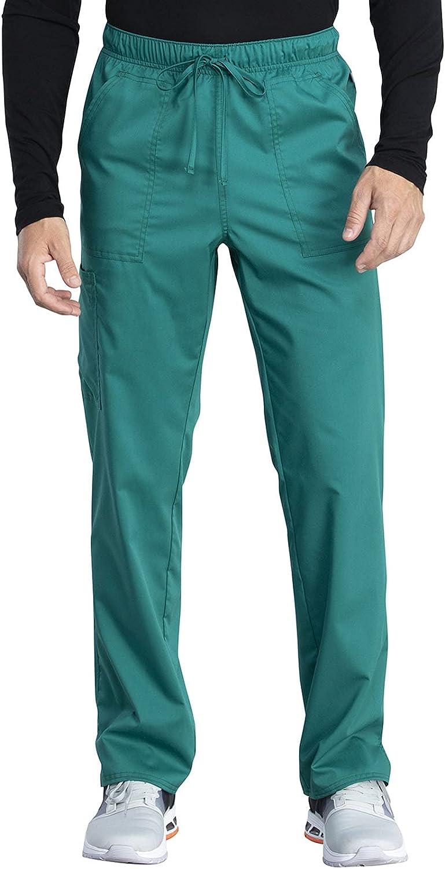 Cherokee Workwear Revolution Tech Men & Women Scrubs Pant Mid Rise Straight Leg WW042ABT, M Tall, Hunter Green