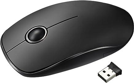 VicTsing Souris Sans Fil Ultra Mince 2.4G Optique Silencieuse Anti-bruit Wireless Bureaunique USB avec Récepteur Nano pour PC, Ordinateur Portable, MacBook, Compatible avec Windows Linux Vista - Noir