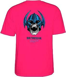 Powell-Peralta Skateboard Shirt Welinder Nordic Skull Hot Pink Size L