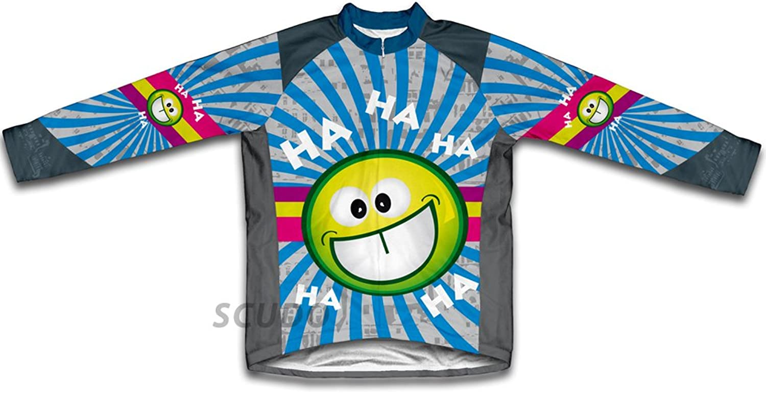 Crazy Laughter Long Sleeve Cycling Jersey for Men