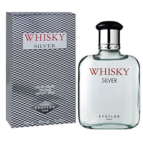 WHISKY Silver • Eau de Toilette 100 ml • Vaporisateur • Parfum Homme • EVAFLORPARIS