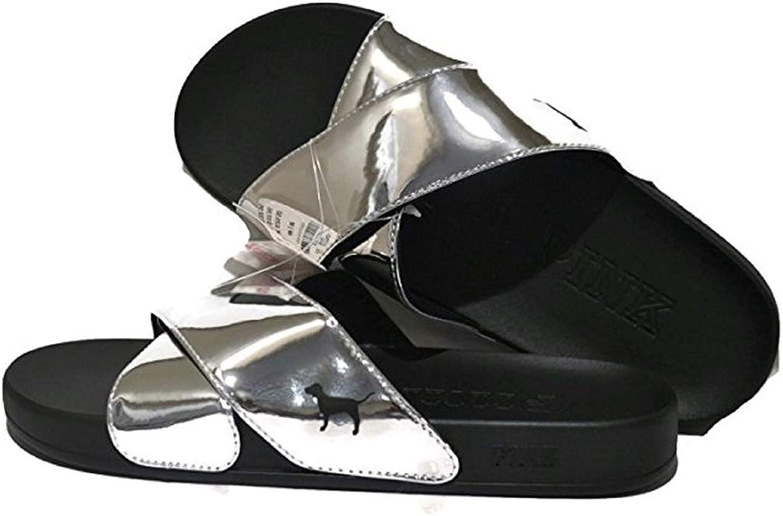 Victoria's Secret Pink Crisscross Slides Sandals
