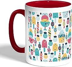 Printed Coffee Mug, Red Color, Desserts fees