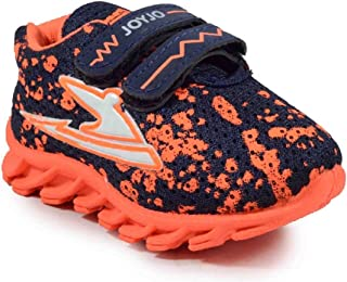 Girls Clubs Sports Shoes Multicolor Age-Group 1.5 Year to 4.3 Year for Kids Boys & Girls Orange