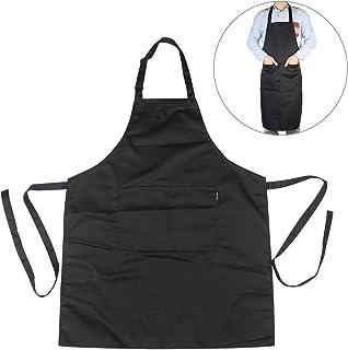 comprar comparacion Delantal babero Chef de chefs cocina delantal con correas de cuello ajustable y bolsillos para cocinar / hornear / asar