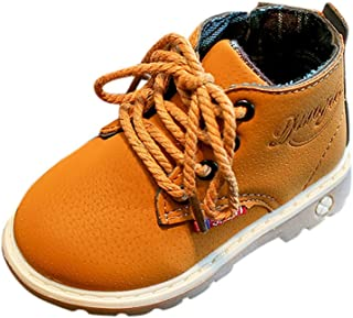 Martin boots Boys Girls autumn and winter boots England warm boots Sport yellow