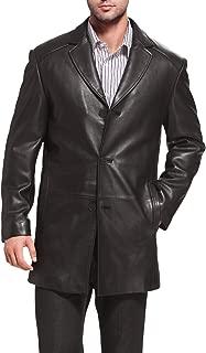 BGSD Men's Carter Three-Button New Zealand Lambskin Car Coat (Regular and Big & Tall Sizes)
