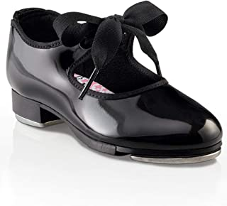 girls black tap shoes