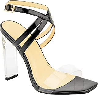 Fashion Thirsty Womens Sexy Clear High Heel Sandals Perspex Strappy Party Barely There Pointed