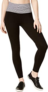 Performance Womens Running Fitness Yoga Legging B/W M White Combo