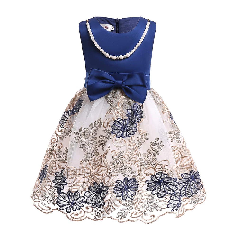 ガールズドレス 女の子ドレス ワンピース 真珠飾り お宮参り 入園式 結婚式 七五三 卒業式