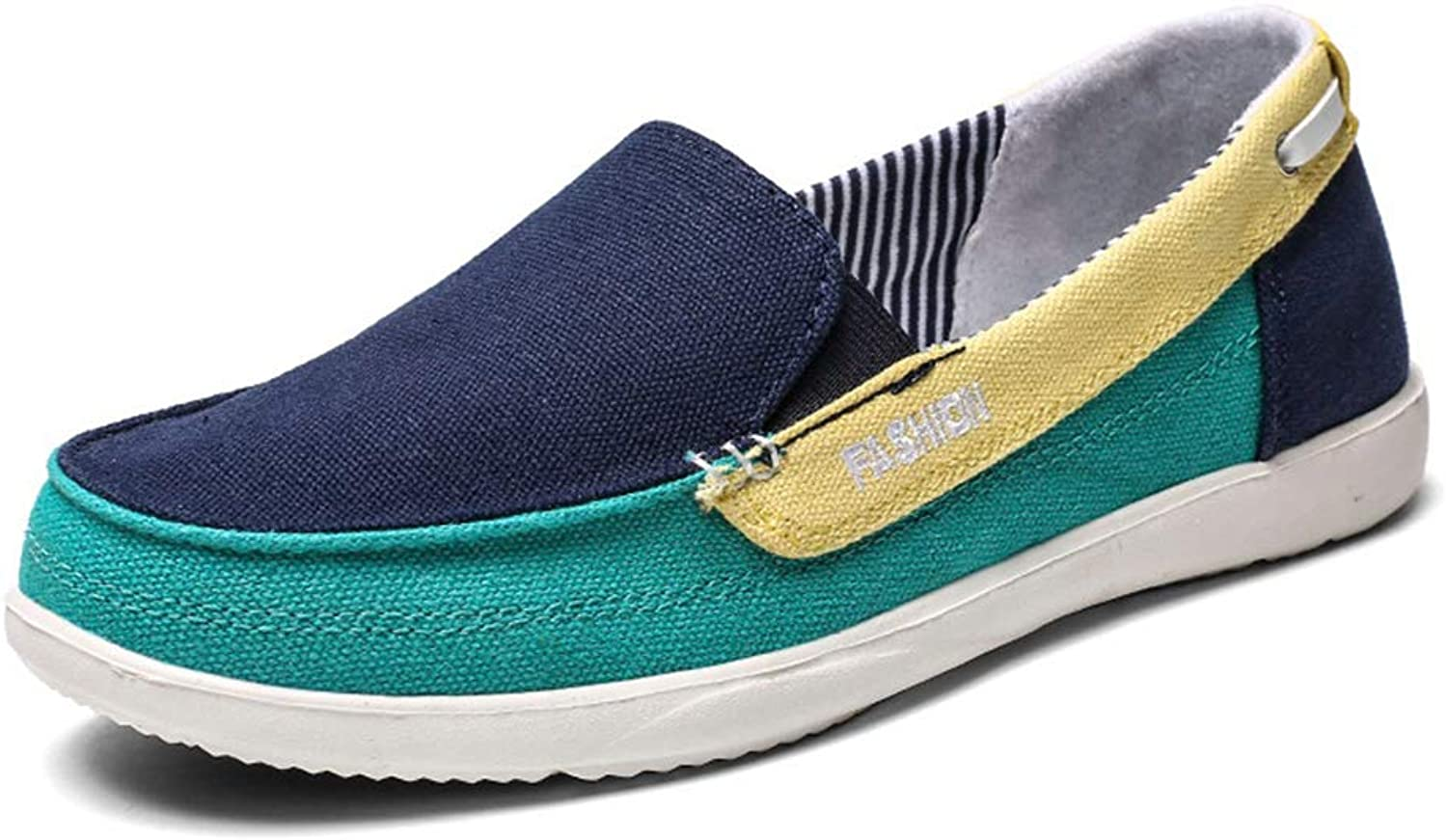 JOYBI Women Round Toe Flat Loafers Comfortable Wide Non Slip Mixed colors Driving Casual Flats Canvas shoes