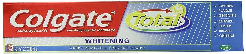 成分取得する調整可能Colgate コルゲートTotal Whitening歯磨き粉221g x 4個パック