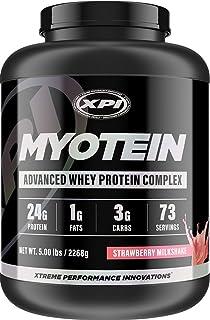 XPI Myotein Protein Powder (Strawberry, 5lbs) - Best Whey Protein Powder Complex - Great Tasting - Hydrolysate, Isolate, C...