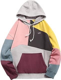 patchwork hoodie mens
