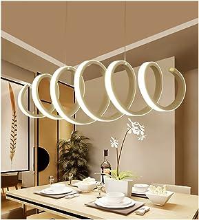 Lámpara colgante de LED de acrílico moderno, con regulación de luz sin electrodos y control remoto (Clase de energía A ++, regulación de luz sin electrodos, 100CM * 30CM, máx. 50W)
