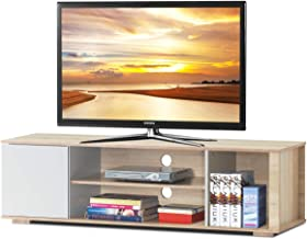 Tangkula TV Stand, Media Unit Storage Media Console Cabinet Home Furniture TV Stand, Open Compartment and Display Shelves for Spacious Storage Space (Natural)