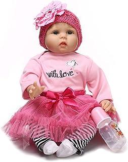 "Reborn Baby Doll, 100% Handmade Full Soft Silicone 22"" /55cm Lifelike Newborn Doll for Children Xmas Gift-RB148"