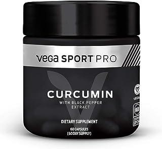 Vega Sport Pro Supplements, Curcumin (60 Capsules) - NSF Certified, Certified Vegan, Gluten Free Pills