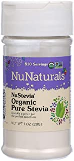 NuNaturals Organic Pure Stevia, Planted Based Natural Sweetener, 1 Ounce Bottle