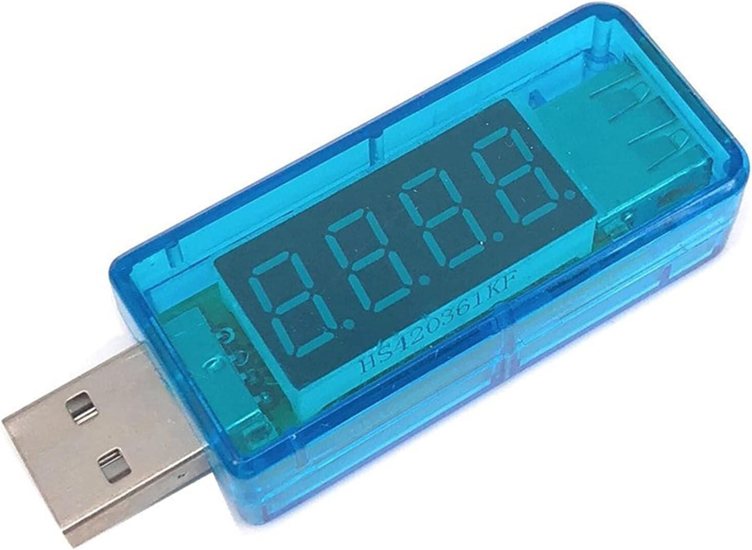 Universal Smart Electronics Digital USB Metros DE Persona DE Potencia MÓVIL TESTADOR DE Voltaje Mini Mini USB Cargador médico voltímetro amperímetro Multifunción (Color : 3)