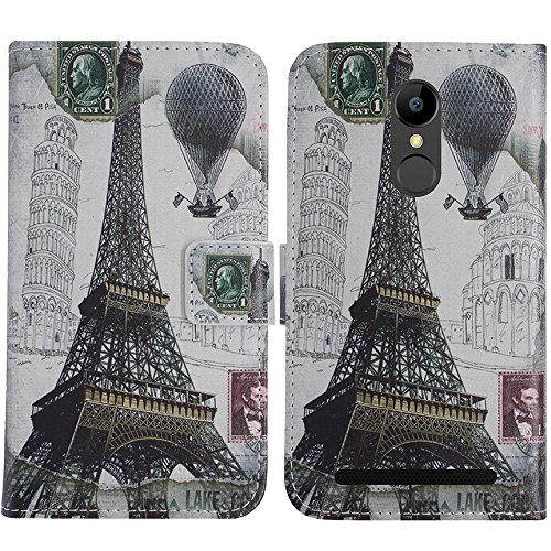 TienJueShi Eiffelturm Flip Book-Style Brief Leder Tasche Schutz Hulle Handy Case Abdeckung Fall Wallet Cover Etui Skin Fur ELEPHONE A8 5 inch