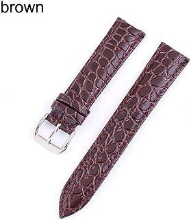 watchbands Grains 20mm Watch Strap Genuine 22mm Watch Band 12 24mm Watch Accessories 18mm Leather Watch Strap Watchbands-Brown-12mm