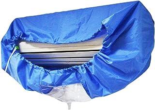 Rtengtunn Lavar la Cubierta del Aire Acondicionado, Bolsa de Limpieza de Aire Acondicionado montada en la Pared Azul Limpieza de Aire Acondicionado Dividido - L
