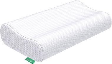UTTU Sandwich Pillow, Adjustable Memory Foam Pillow, Bamboo Pillow for Sleeping, Cervical Pillow for Neck Pain, Neck Suppo...