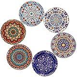 BOHORIA Premium Design Untersetzer 6er Set Dekorative Untersetzer fur Glas, Tassen, Vasen, Kerzen auf ihrem Holz-, Glas- oder Stein- Esstisch Boho Edition,Marrakech