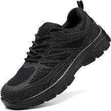 WODEQ Zapatillas de Seguridad Industria Construcción Botas de Protección Antideslizante Transpirable Calzado de Trabajo