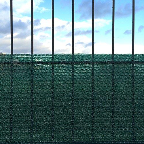 KLASEBO Zaunblende Sichtschutz Windschutz Sonnenschutz Tennisblende Staubschutz Netz (1,5 x 15 m)