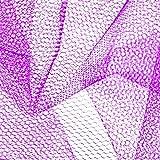 Falk Fabrics LLC CG-835 Nylon Net Purple Fabric Stoff,