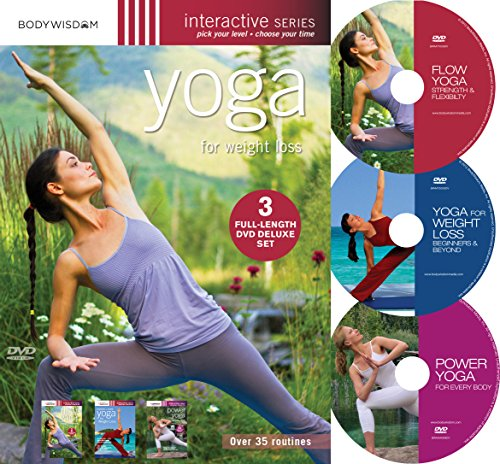 Yoga for Weight Loss (Deluxe 3 DVD set with over 35 routines)
