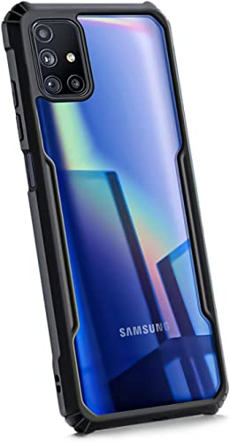 WOW Imagine Shock Proof Series Protective Case for Galaxy M51 Transparent Bumper 360 Degree Camera Protection with AirEDGE Technology Hard Back Case Cover for Samsung Galaxy M51