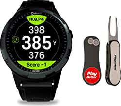 Golf Buddy aim W10 Smart Golf GPS Watch with PlayBetter Pitchfix Divot Tool Bundle   Green Undulation   Preloaded with 40,000 Courses   Slope-Adjusted Distance