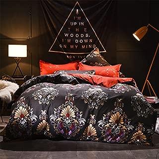 Boho Duvet Cover Set Royal Dynasty Bohemian Bedding Set 100% Polyester 3-Pieces Queen
