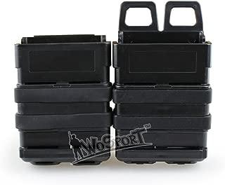 DETECH Tactiacl Camo Fast Mag Bag Polymer Attach Belt Magazine Pouch 5.56 Medium Magazine Bag Holster for M4 MAG