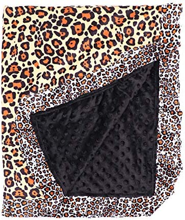 Leopard Blanket Dotted Plush Fabric Swaddle Blanket Decor Fur Baby Newborn Blanket Blanket Used product image