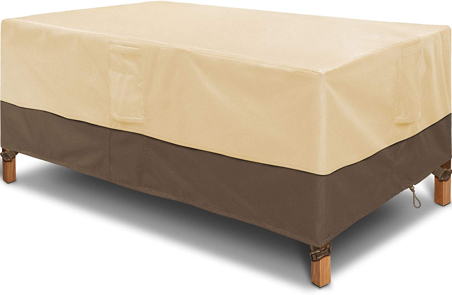 Kikcoin Rectangular/Oval Patio Table Cover, Heavy Duty Waterproof Outdoor Lawn Patio Furniture Covers 72