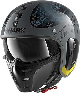 SHARK Herren NC Motorrad Helm, gelb, L