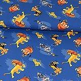 Baumwolljersey König der Löwen blau Lizenzstoff - Preis