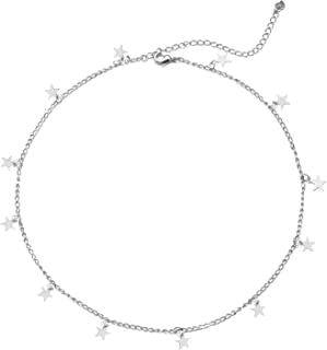 Best star necklace silver choker Reviews